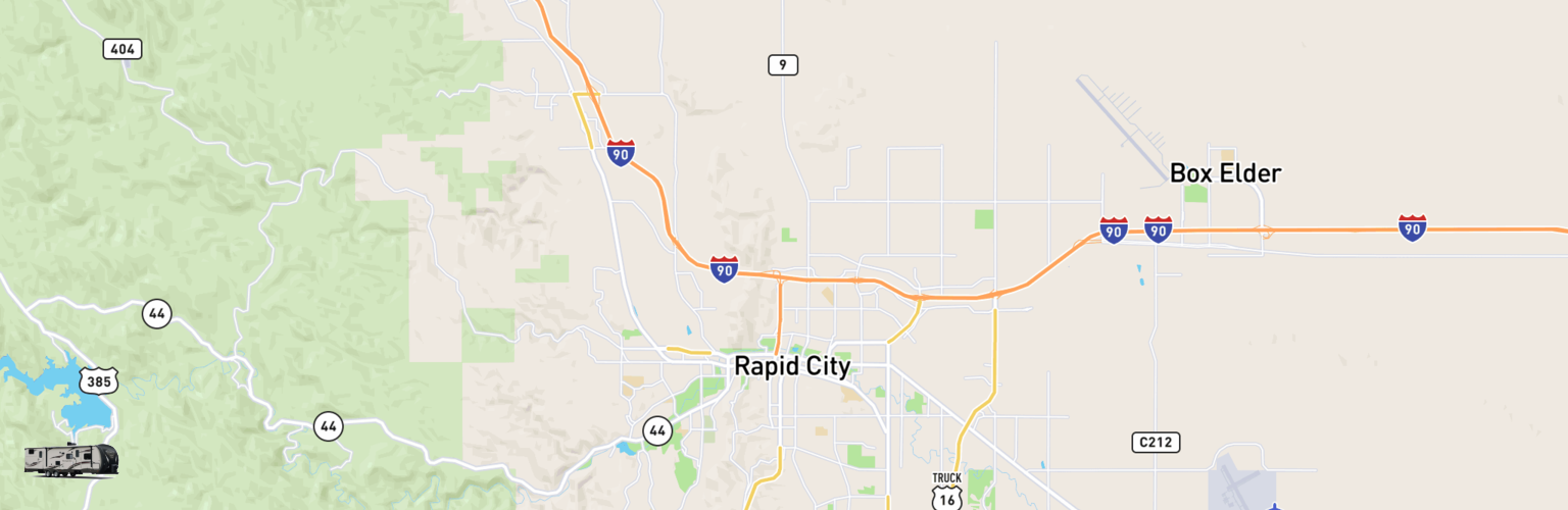 Travel Trailer Rentals Map Rapid City, SD