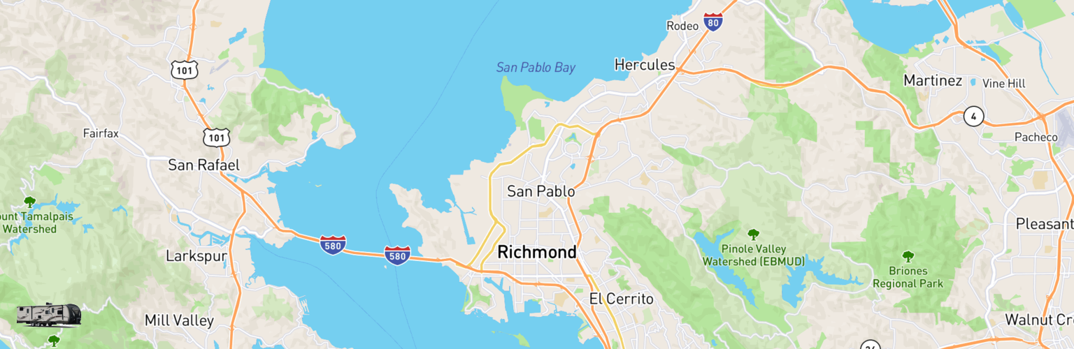 Travel Trailer Rentals Map Richmond, CA