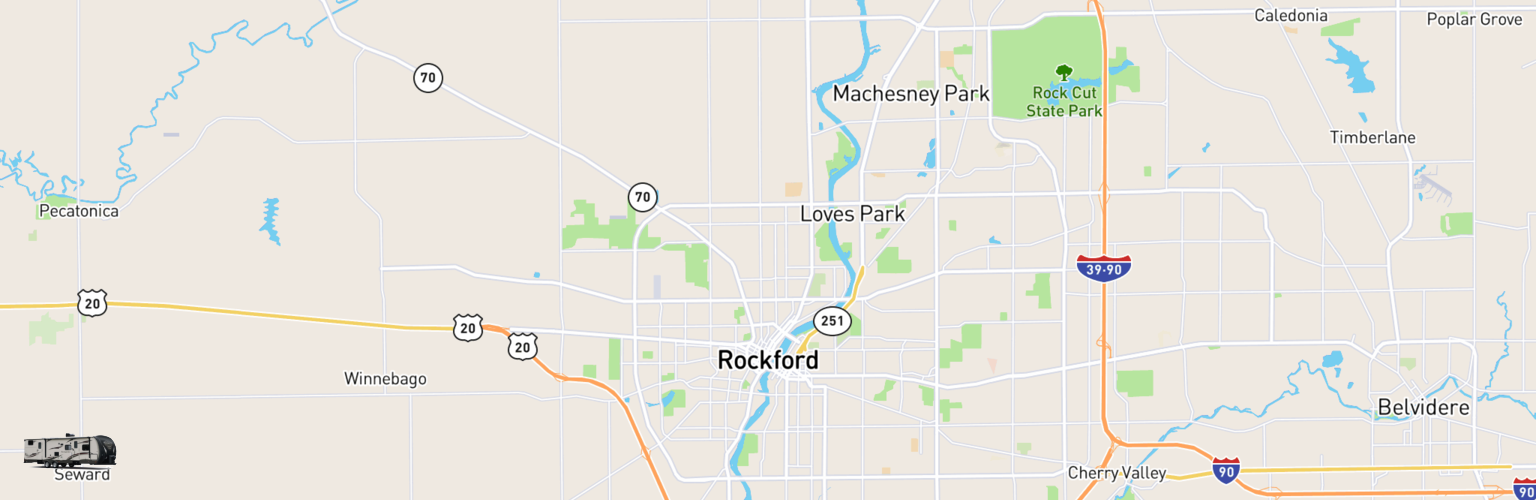 Travel Trailer Rentals Map Rockford, IL