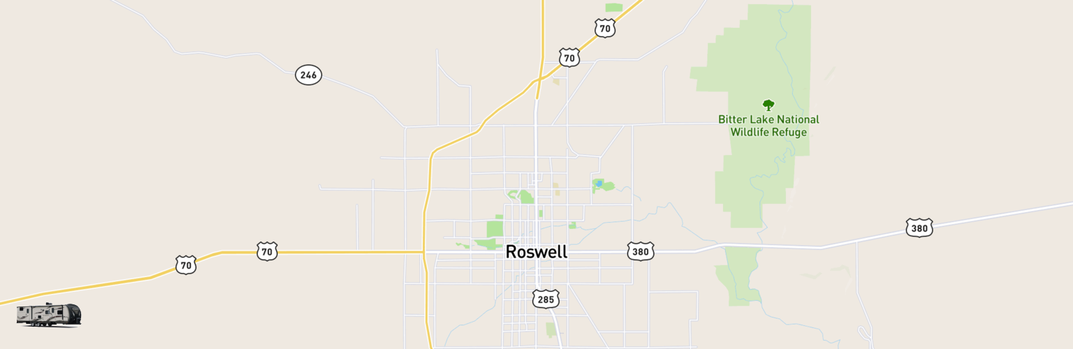 Travel Trailer Rentals Map Roswell, NM