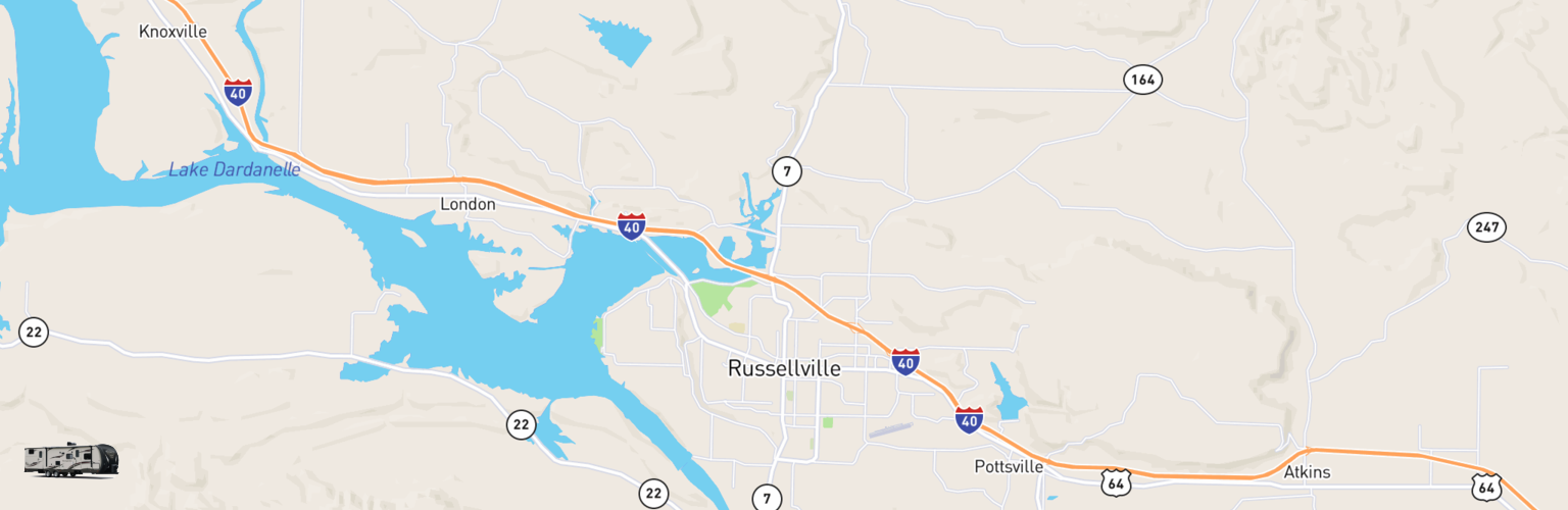 Travel Trailer Rentals Map Russellville, AR
