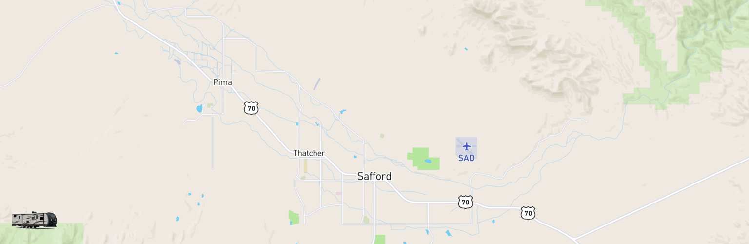 Travel Trailer Rentals Map Safford, AZ