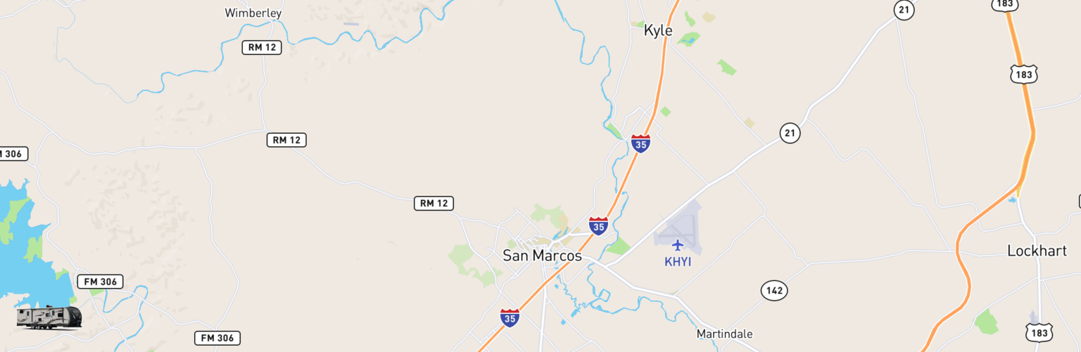 Travel Trailer Rentals Map San Marcos, TX