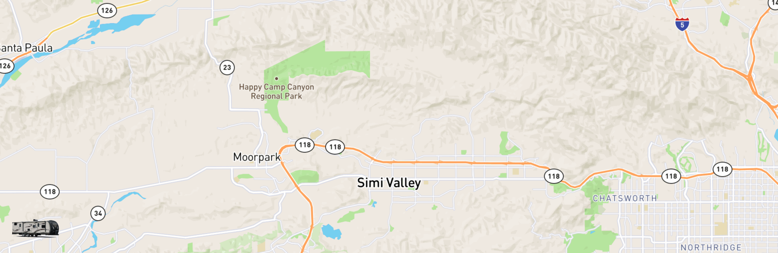 Travel Trailer Rentals Map Simi Valley, CA