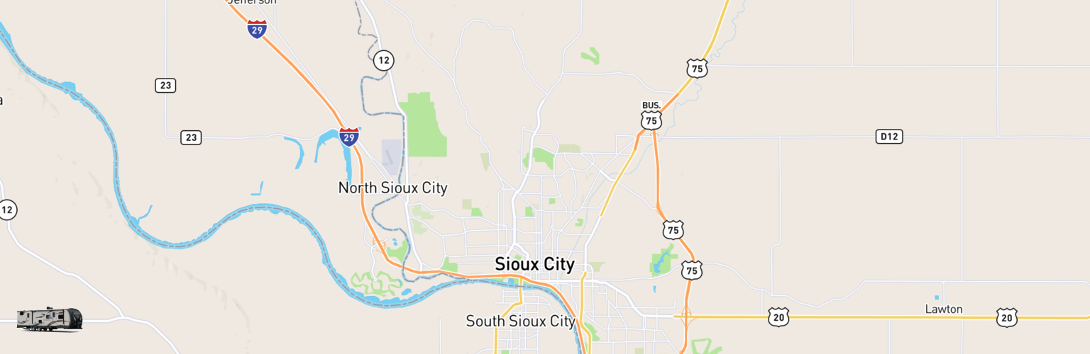 Travel Trailer Rentals Map Sioux City, IA
