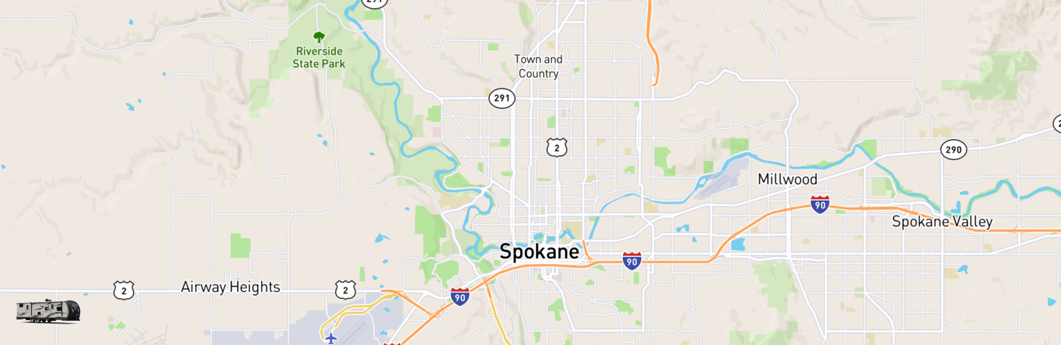 Travel Trailer Rentals Map Spokane, WA