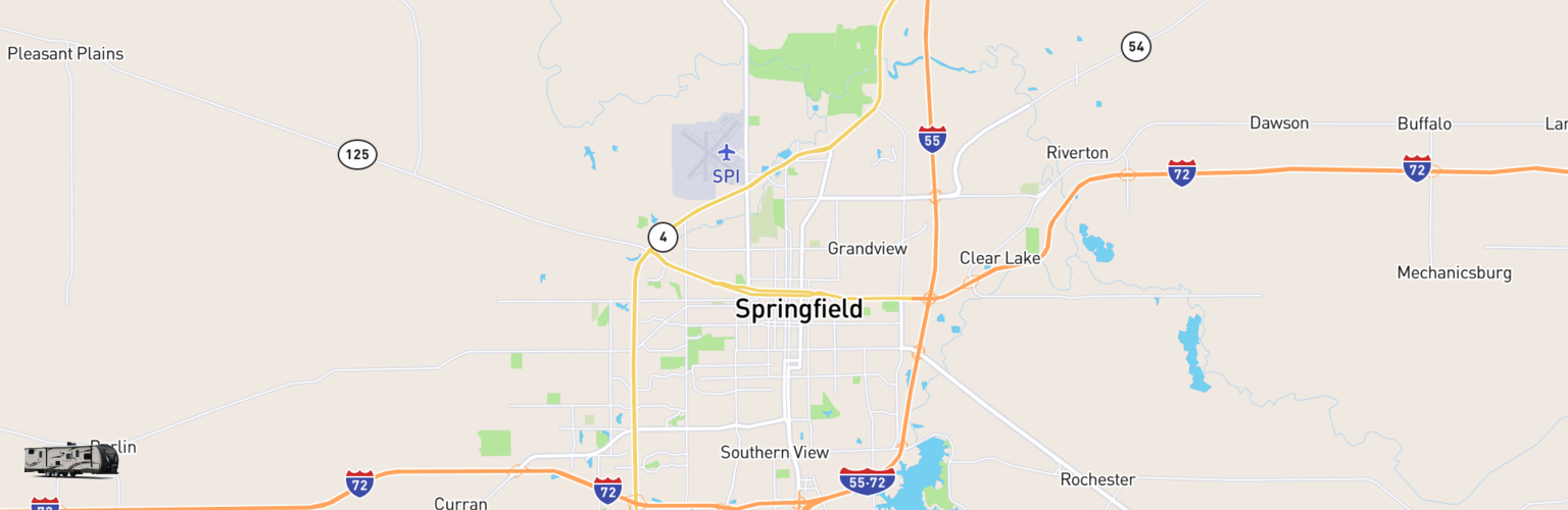 Travel Trailer Rentals Map Springfield, IL