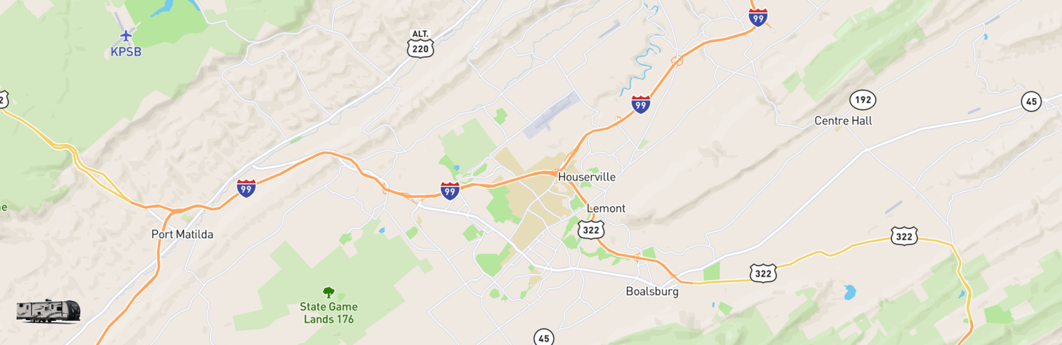 Travel Trailer Rentals Map State College, PA