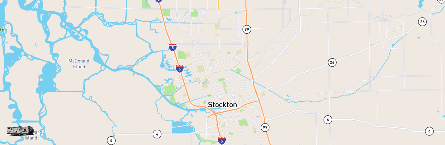 Travel Trailer Rentals Map Stockton, CA