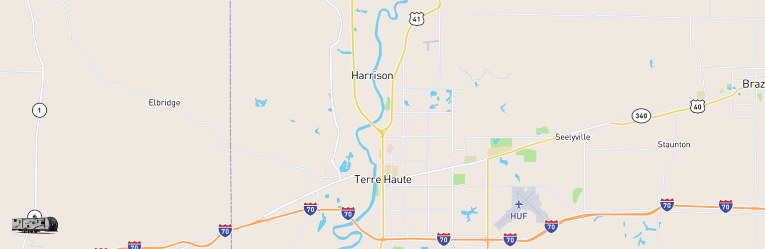 Travel Trailer Rentals Map Terre Haute, IN