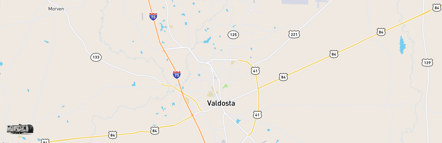 Travel Trailer Rentals Map Valdosta, GA