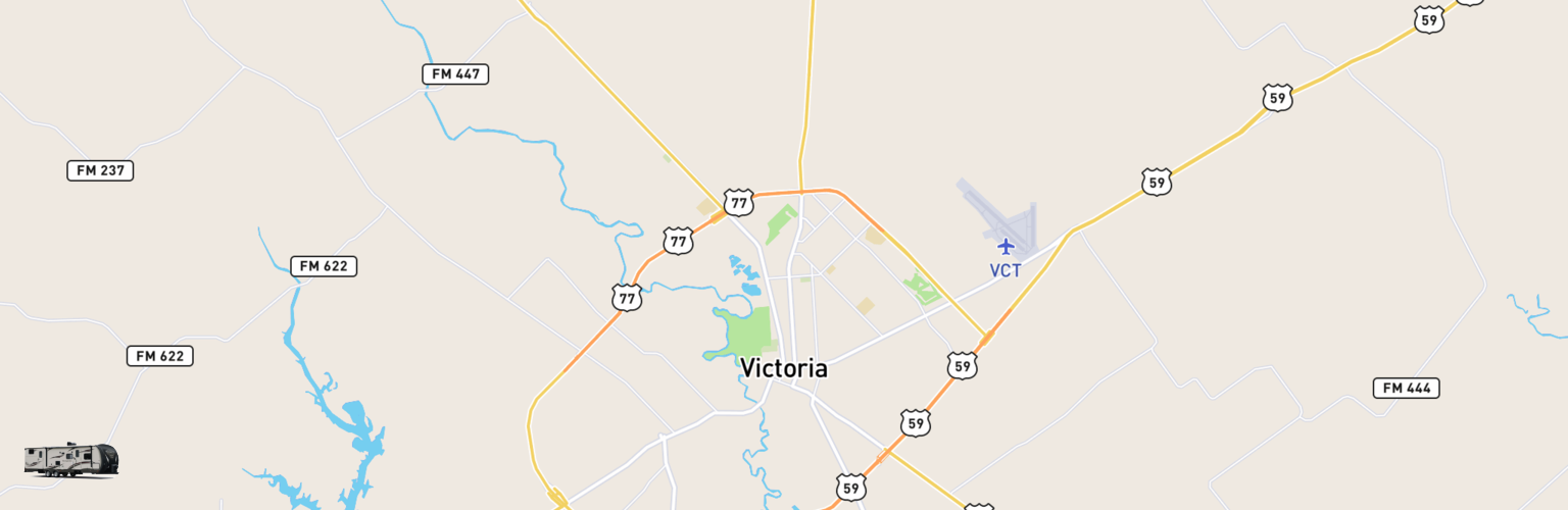 Travel Trailer Rentals Map Victoria, TX