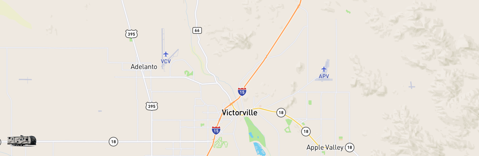 Travel Trailer Rentals Map Victorville, CA