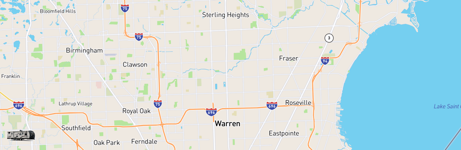 Travel Trailer Rentals Map Warren, MI