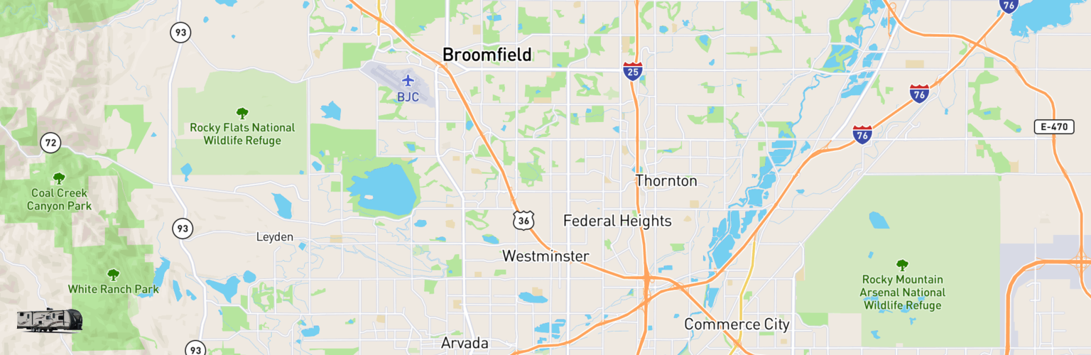 Travel Trailer Rentals Map Westminster, CO