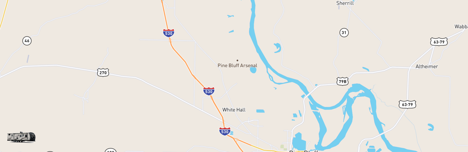 Travel Trailer Rentals Map White Hall, AR