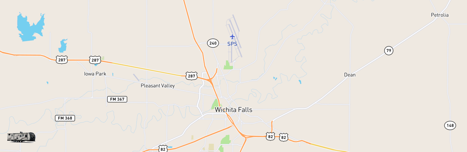Travel Trailer Rentals Map Wichita Falls, TX
