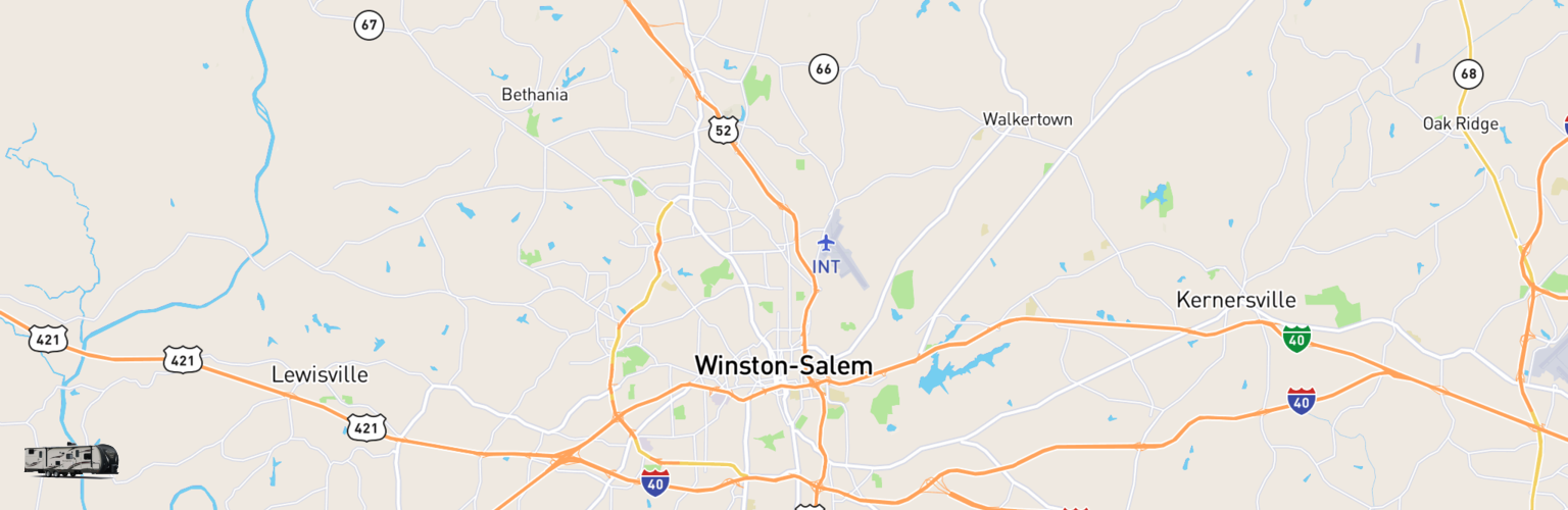 Travel Trailer Rentals Map Winston Salem, NC