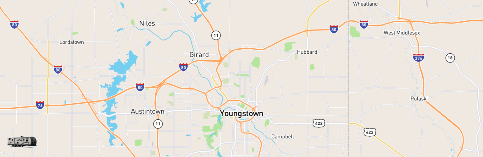 Travel Trailer Rentals Map Youngstown, OH